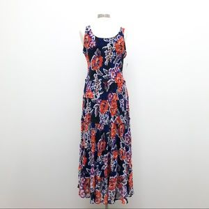 Jones Studio Dress Tank Style Floral Print NWT